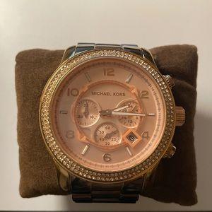 Michael Kors Runway Rose Gold Ladies Watch 45mm